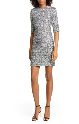 Alice + Olivia Inka Sequin Mock Neck Dress