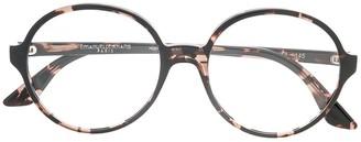 Emmanuelle Khanh Round Frame Tortoiseshell Glasses