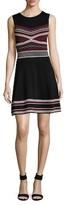 Shoshanna Crewneck A-Line Dress