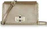 Diane von Furstenberg 440 Gallery Bellini metallic lizard-effect leather shoulder bag