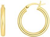 Sphera Milano 14K Yellow Gold Plated Sterling Silver 12mm Tube Hoop Earrings