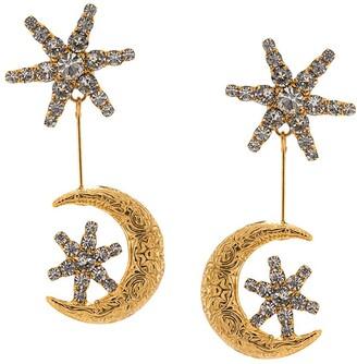 Jennifer Behr Atlas drop moon earrings