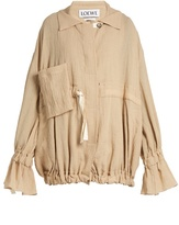 Loewe Ruffled-cuff crinkled cotton-blend jacket