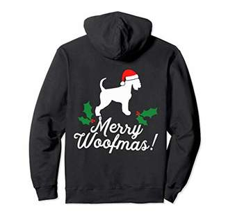 Merry Woofmas Schnauzer Christmas Dog Gift Pullover Hoodie