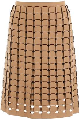 Bottega Veneta Chainmail Effect Skirt