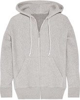 Sacai Cotton-blend and wool-blend hooded top