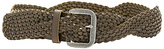 Linea Pelle Twist Braid Belt in Olive. - size L (also in M,S,XS)