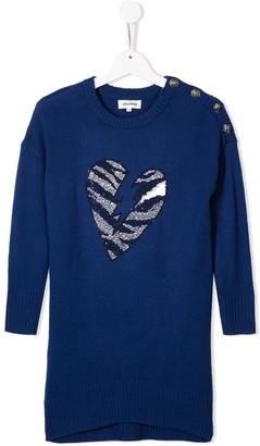Zadig & Voltaire Kids Heart Motif Jumper Dress
