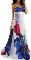 RUIYIGE Womens Sleeveless Maxi Dress Beach Party Dress L