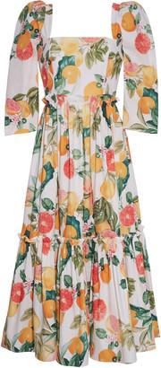 Cara Cara Blue Hill Floral Poplin Midi Dress