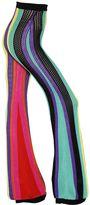 Balmain High Waist Striped Flared Crochet Pants