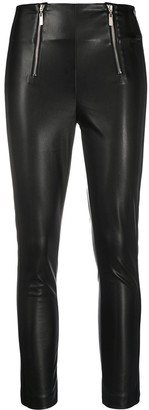 Twin-Set Faux-Leather Skinny Jeans