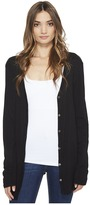 Michael Stars Slub Long Sleeve Cardigan w/ Raw Edges Women's Sweater