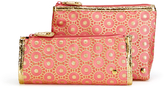 Stephanie Johnson Metallic Accented Pouch Set (Set of 2)
