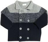 Il Gufo Double Breasted Wool Rib Knit Cardigan