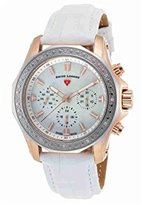 Swiss Legend Women's 16200SM-SR-02-WHT Islander Stainless Steel Watch with White Band