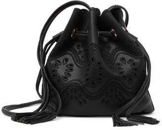 Urban Expressions Vegan Leather Drawstring Bucket Bag
