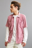 Stussy Reverse Terry Short Sleeve Button-Down Shirt