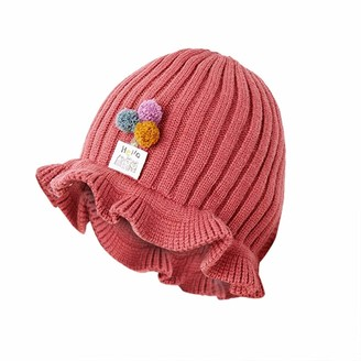 ClodeEU New Baby Cute Hat Thick Warm Autumn and Winter Basin Hat Bag Suit for Baby Girls Boys Watermelon Red
