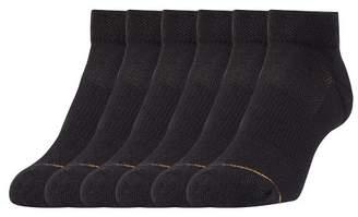 All Pro Women's 6 Pack Aqua Fx Low Cut Athletic Socks - Black 5-10