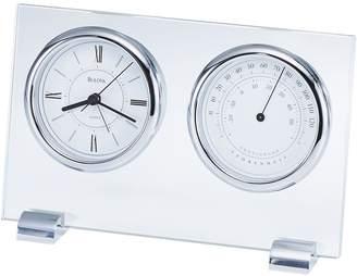 Bulova Glass Table and Mantel Clock