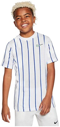 Nike Kids Team Tee (Little Kids/Big Kids) (White) Boy's Clothing