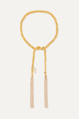Carolina Bucci Travel Lucky 18-karat Gold And Silk Bracelet