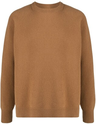 Jil Sander High-Low Hem Crew Neck Jumper