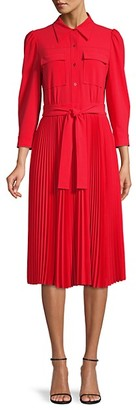 Elie Tahari Ere Pleated Shirtdress
