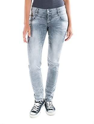 Timezone Women's Slim Kairina Jogg Jeans, (Light Grey Wash 2085), 31W x 34L