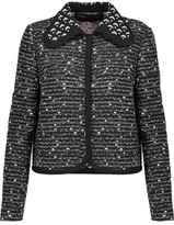 Giambattista Valli Embellished Wool-Blend Bouclé-Tweed Jacket