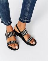 Glamorous Stud Strap Flat Sandals