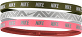 Nike 3-Pk. Metallic Headbands
