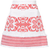 Alexis embroidered skirt - women - Cotton/Polyester - XS