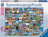 Ravensburger NEW 99 Most Beautiful Places Jigsaw Puzzle 1000pc