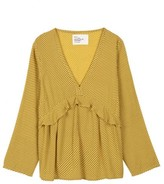 Leon & Harper - Crisis Yellow Dot Blouse - S .