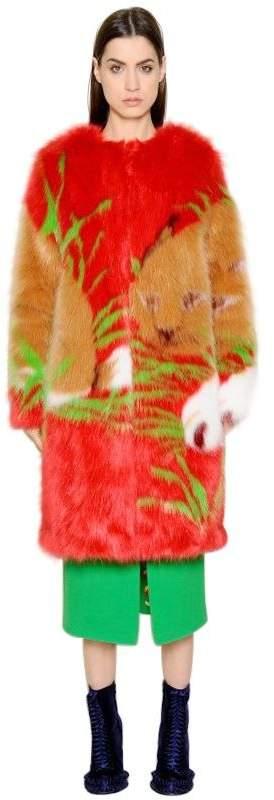 Marco De Vincenzo Pop Faux Fur Coat
