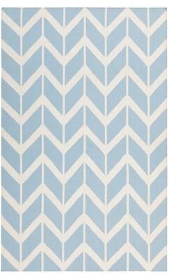 Surya Fallon Winter Hand-Woven Sky Blue/White Area Rug Rug Size: Rectangle 2' x 3'