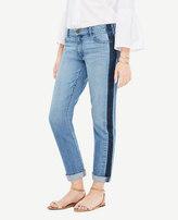 Ann Taylor Petite All Day Girlfriend Jeans in Side Stripe