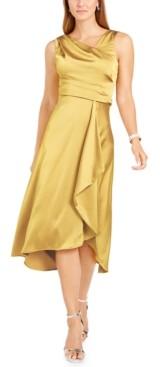 Taylor Draped Satin Midi Dress