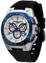 Jorg Gray Men's Quartz Watch with Silver Dial Chronograph Display and Black Silicone Strap JG8300-24