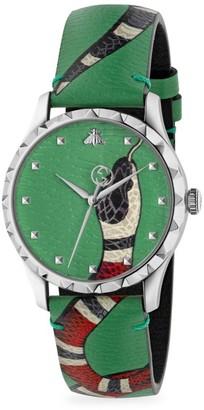 Gucci G-Timeless Green Snake Watch
