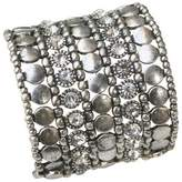 Zirconite Multi-Strand Bracelet with Bezel Crystals - White