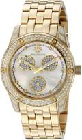 Mother of Pearl Wellington Mataura Women's Quartz Watch with Dial Analogue Display and Gold Stainless Steel Plated Bracelet WN507-289