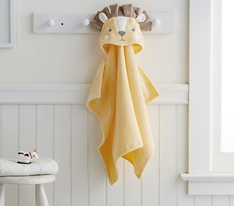 Pottery Barn Kids Lion Baby Hooded Towel