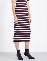 Victoria Beckham Striped waffle-knit skirt