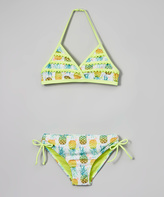 Jantzen Lime Green Paradise Pineapple Bikini - Girls