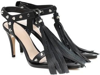 Christopher Kane Fringed and studded leather sandals