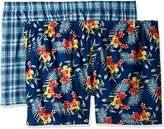 Tommy Bahama Men's 2 Pack Floral and Seersucker Plaid Woven Boxer Set-Big