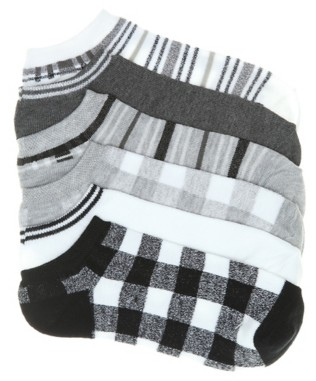 Mix No. 6 Buffalo Plaid Women's No Show Socks - 6 Pack